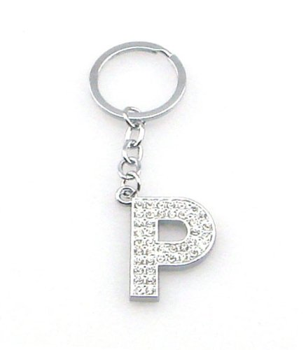Initial P Diamonte Keyring for sale  Delivered anywhere in UK