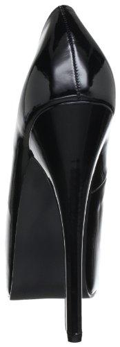 Pleaser Teeze 06, Escarpins femme Noir (Blk Pat)
