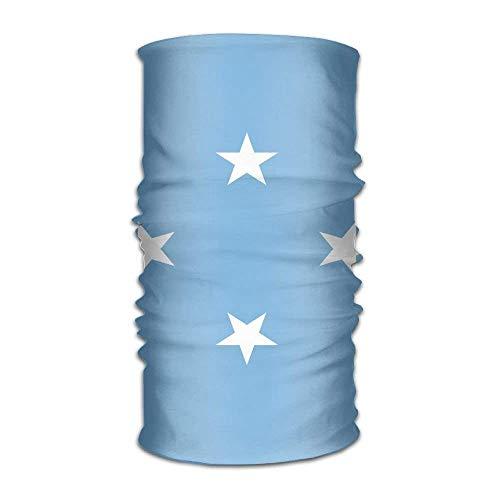 Rghkjlp bandiera della micronesia unisex outdoor sport sciarpa fasce bandana mask neck gaiter head wrap sweatband headwear multicolor15
