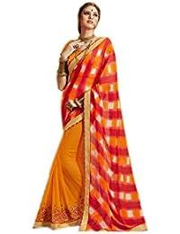 Mantra Fashions Women's Georgette Saree (Mant06_Multi)