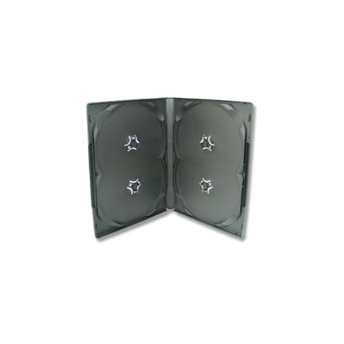10 Xlayer DVD CD Hüllen 4fach 4er-DVD-Box schwarz eco (Eco Cd-hüllen)