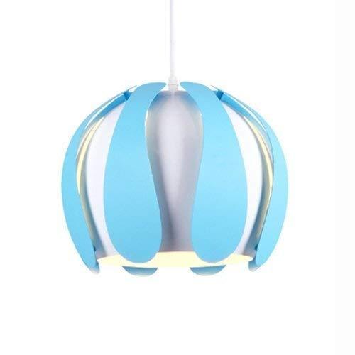 Tao-Miy Moderne Eleganz Hängelampe Schlafzimmer Beleuchtung Anhänger Schatten Kronleuchter Hängen Beleuchtung Vintage Lampenschirm Anhänger (Farbe : Blau) -
