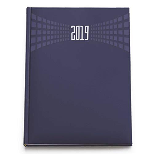 Agenda giornaliera blu 2019 formato A4 21x30 cm sabato e domenica separati matra' appuntamenti