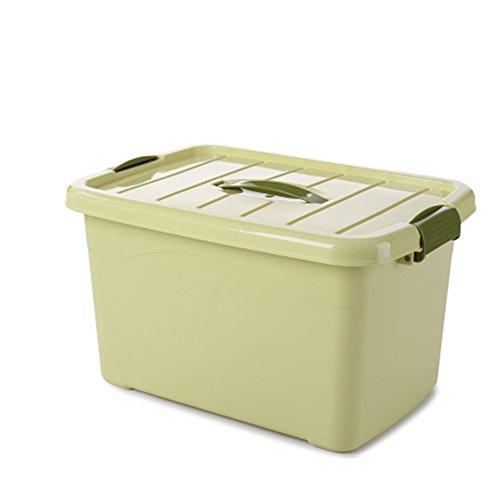 Unbekannt YZRCRKHaushalt Kunststoff Aufbewahrungsbox Verdickung Aufbewahrungsbox Kleiderschrank Aufbewahrungsboxen Stapelbar Snacks Snacks Aufbewahrungsboxen Mit Abdeckungen (Farbe : Grün, größe : M)