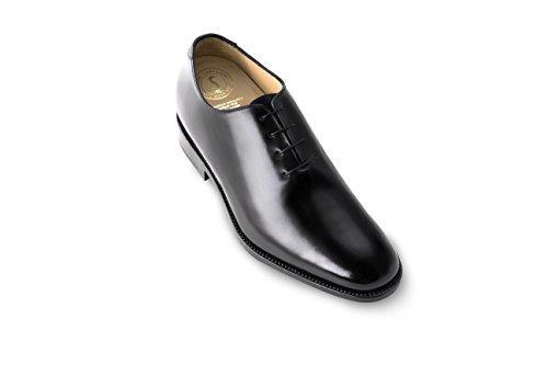 Masaltos Scarpe con Rialzo da Uomo Che Aumentano l'Altezza Fino a 7 cm. Fabbricate in Pelle. Modello Detroit Nero