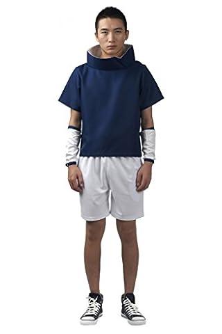 Mtxc Hommes Naruto Cosplay Costume Sasuke Uchiwa 1er Taille XXX-Large Bleu