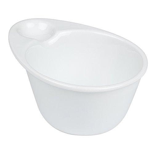 2x Snack-Plato de porcelana Cuenco de sopa con mango de borde también para tappas