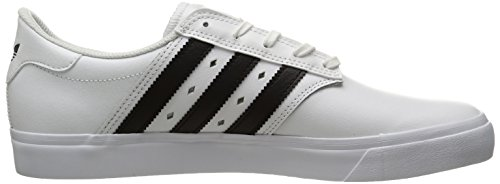Adidas Seeley Premiere Synthétique Baskets Blanc / Noir / Cuir blanc (White / Black / White Leather)
