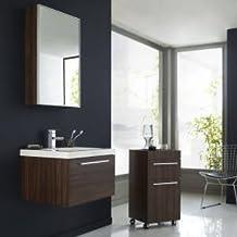 hudson reed set ensemble meubles salle de bain glide lavabo rsine rangement sous - Meuble Salle De Bain Marron