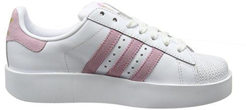 Scarpe Da Ginnastica Adidas Donna Superstar Bold W Bianche (ftwr Bianco / Wonder Pink F10 / Gold Met.)