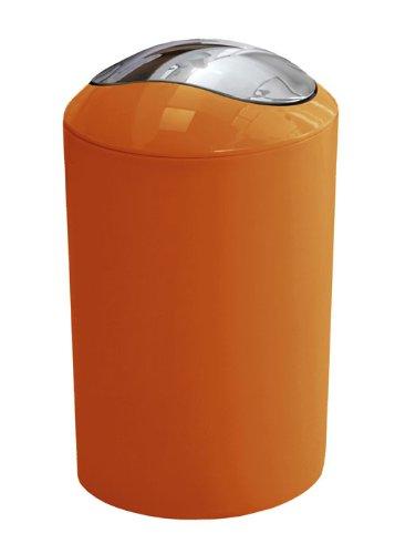 Kleine Wolke 5063114858 Glossy Schwingdeckeleimer, Orange, 20 x 30 cm