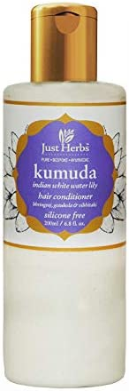 Just Herbs Ayurvedic Kumuda Indian White Waterlily Silicone free Hair Conditioner, For all Hair Type, Sulphate