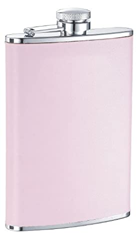 Visol Daydream Leather Liquor Flask, 8-Ounce, Pink by Visol