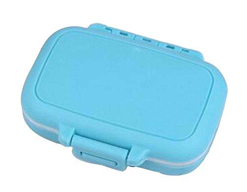 [Blau-2] Kleine Pill Box Pille Fällen Medizin Dispenser Pille Container (Monatliche Pille Veranstalter)