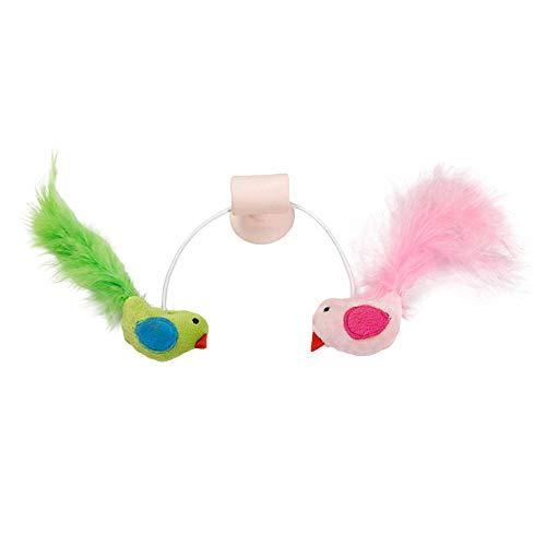 little finger Katzenspielzeug, Vogelfederform, Katzenglöckchen, Katzenminze, Fenster Saugnapf