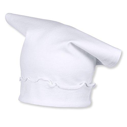 Sterntaler Baby - Mädchen Mütze Kopftuch, Gr. 45 cm, Weiß (weiß 500)