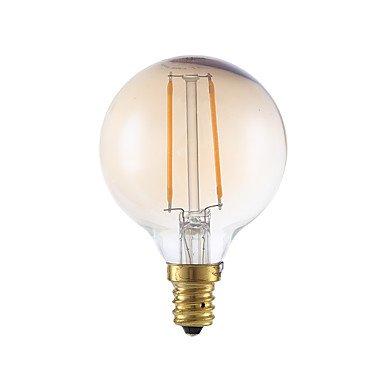 HZZymj-2W E12 Bombillas de Filamento LED G16.5 2 COB 160 lm Ámbar Regulable V 6 piezas