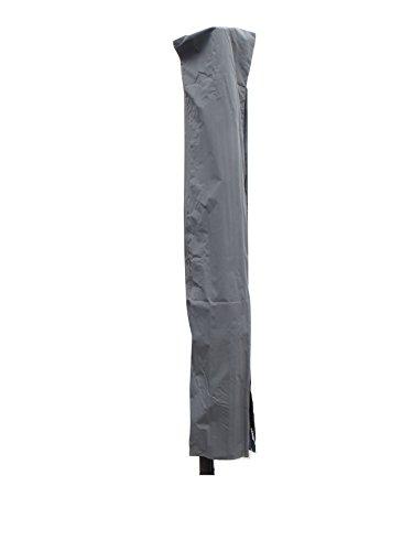 Madison hochwertige Ampelschirm Schutzhülle #2 mit Stab aus wetterfestem Polyestergewebe in grau