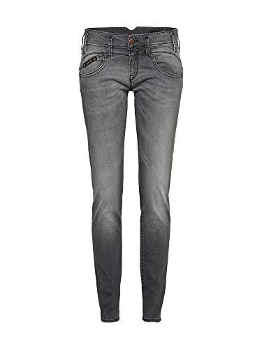 Herrlicher Damen Slim Jeans Pearl, Schwarz (Dark Ash 720) W31/L32 -