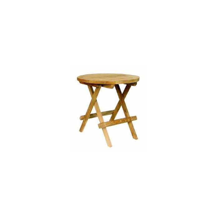 Teak Beistelltisch Tisch Balkontisch Holz Klappbar 40 Cm