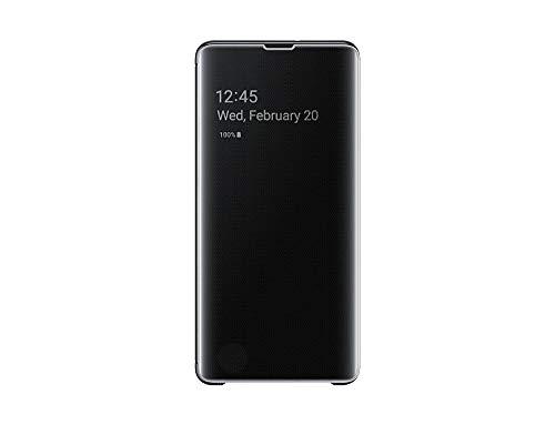 Clear View Cover für Galaxy S10+ Schwarz