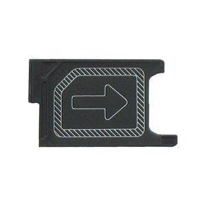Mikro Sim-Karte Tray Schlitten Halterung Slot Ersatzteil für Sony Xperia Z2 L50w D6505 D6503 Schwarz MMOBIEL
