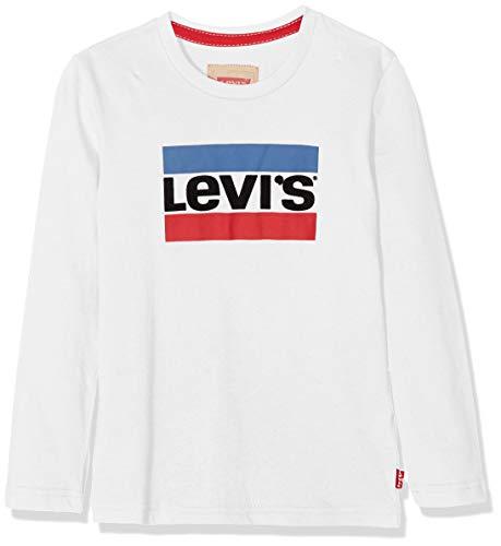 Levi's Kids Jungen Tee NM10057 T-Shirt, Weiß (Nickel, 10 Jahre (Herstellergröße: 10A) -
