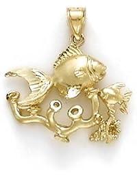 14ct Jewels Anhänger Schaumkoralle Goldfisch - JewelryWeb
