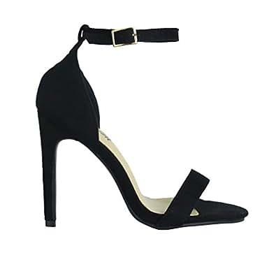 428abb405a95e5 Image indisponible. Image non disponible pour la couleur : BeMeesh  Chaussures à Talons Hauts avec Sangle de Cheville Femme Bout Ouvert
