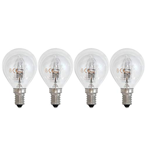 General Electric GE Lighting Halogen Tropfen E14 SES Glühlampe Glühbirne 30W = 40W dimmbar 405lm 2800K warmweiß (2 x 2er-Pack) -