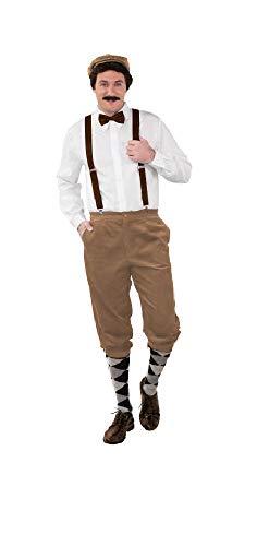 Paper Kostüm Boy - shoperama Hochwertige Knickerbocker Cord Hose 20er Jahre Herren Peaky Blinders Paper Boy Oktoberfest Tracht Kostüm-Zubehör, Farbe:Beige, Größe:50/52