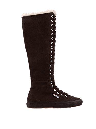 Superga - Superga Stivali donna pelle nero FULL DK CHOCOLATE