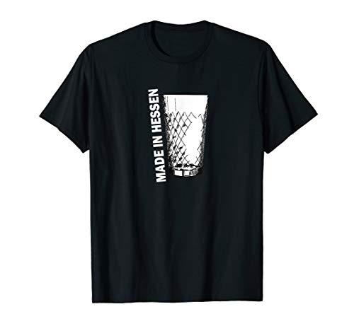 made in Hessen T-Shirt Apfelwein Apfelweinglas Gerippte FFM