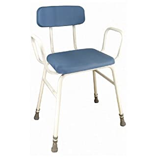 Aidapt Astral Perching Stool with Arms and Padded Back (Eligible for VAT relief in the UK)