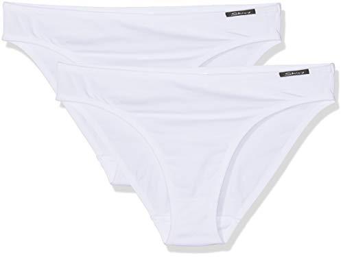 Skiny Mädchen Essentials Girls Rio Slip 2er Pack Unterhose, Weiß (White 0500), 176