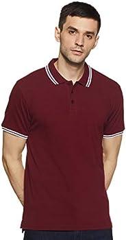 Amazon Brand - Symbol Men's Solid Regular fit Polo T S