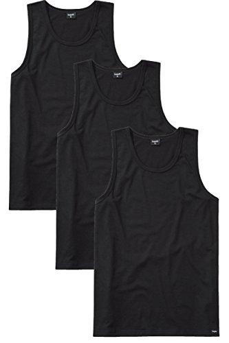 3 Bugatti Herren T - Shirts Sporthemden schwarz Schwarz