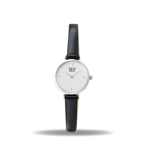 Davis Damen Analog Quarz Uhr mit Leder Armband 2291