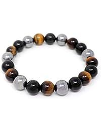 c8cd79f3f67c ojo de tigre y ónix obsidiana negro hematita pulsera de piedra natural para hombres  pulsera de cuentas de 10…