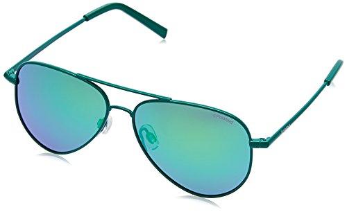 Polaroid pld 8015/n k7 1zu, occhiali da sole unisex-bambini, verde (green/green sp pz), 52