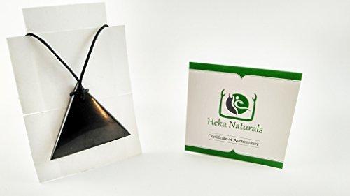 Triangle Collier avec pendentif shungite Pierre naturelle Chakra Cristal d'énergie de guérison Carélie Russie