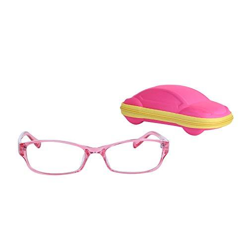 Rechteckig Kinder Brille Ohne Stärke Jungen und Mädchen Alter 5-12 Auswechselbar Klare Linse +...