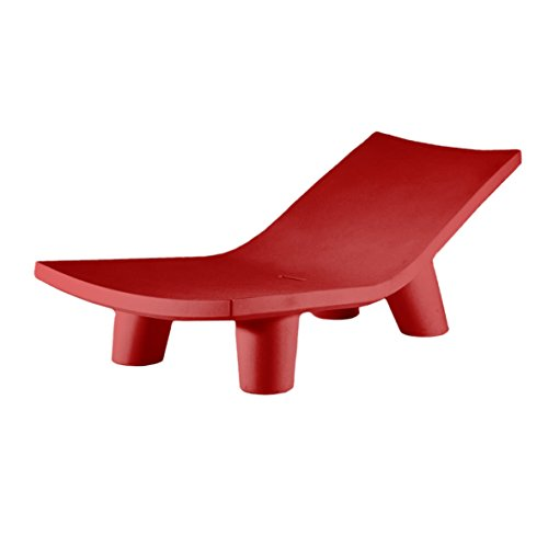 Slide Low Lita Lounge Chaise longue/Lit brouette Rouge flame