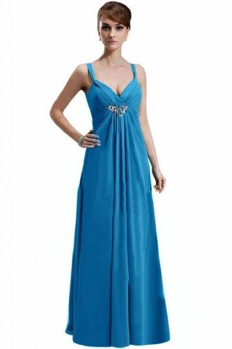Lemandy - Robe -  Femme Multicolore Bigarré Custom-made Size Multicolore - Bleu