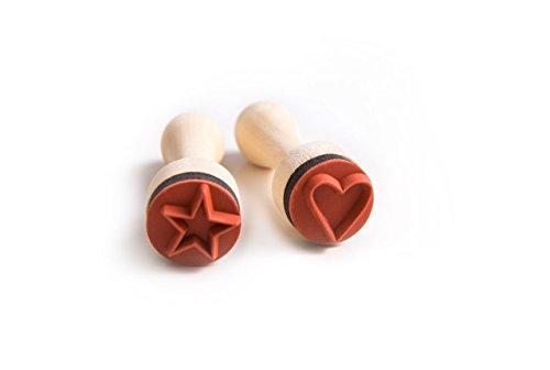 Zwei kleine Mini-Stempel im Set - mit Herz und Stern - nicht nur für Lehrer!