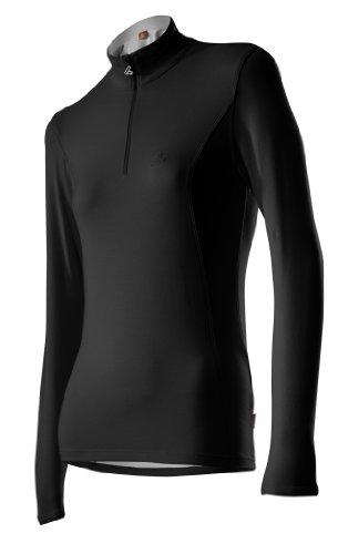 Löffler Damen Pulli Transtex Basic, schwarz, 48, 10989
