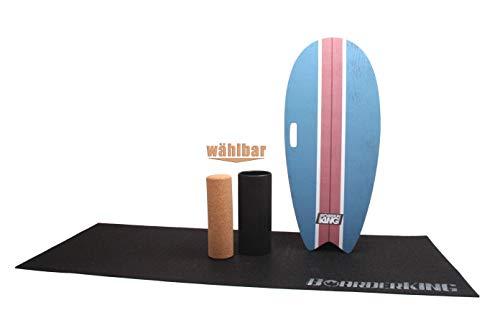 """Monopatín interior y tabla de surf """"BoarderKing"""". Experimenta el comportamiento único de surf, similar al de montar en una onda. A diferencia de tablas de equilibrio con un rodillo de madera, nuestro rodillo es una experiencia de surf perfecta. De la..."""