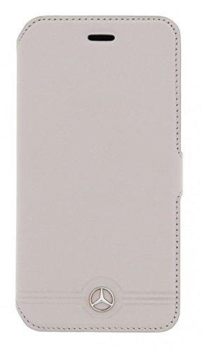 Mercedes-Benz MEFLBKS6EMSGR Reine Geprägte Linien Leder Booktype Kasten für Samsung Galaxy S6 grau grau