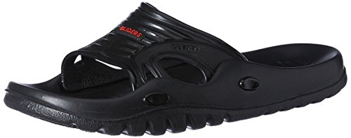 Gliders (from Liberty) Men's Black Flip Flops and Home Slippers - 10 UK  available at amazon for Rs.202