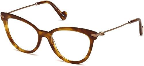 Moncler Unisex-Erwachsene Brillengestelle ML5018 053 53, Braun (Avana BIONDA)
